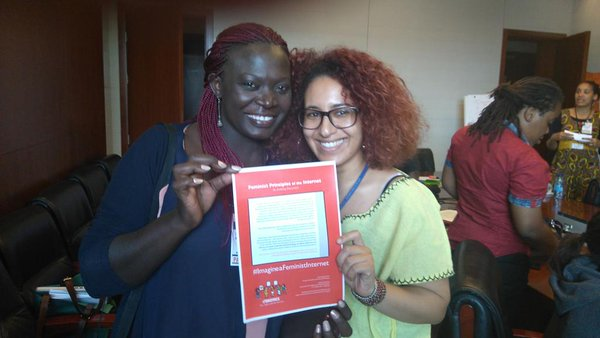 Meha Jouini at AfriSIG 2015: The internet has allowed me to publicly express my identity as an Amazing woman activist